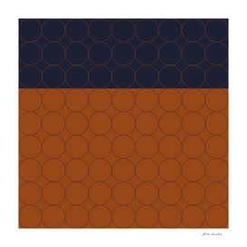Navy and Rust Circles I