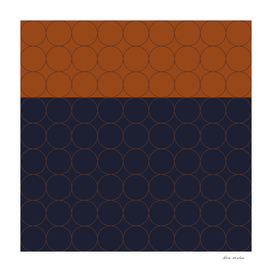 Navy and Rust Circles II