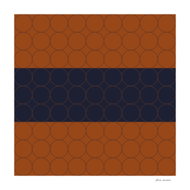 Navy and Rust Circles III