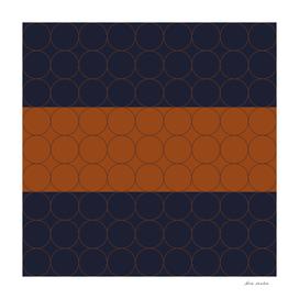 Navy and Rust Circles IV