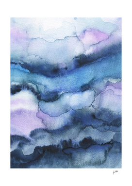 Amethyst abstract watercolor