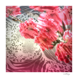 Vibrant Animal Print & Floral Collage