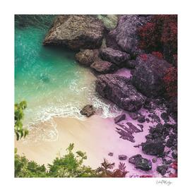 Whimsical Beach Water & Rocks