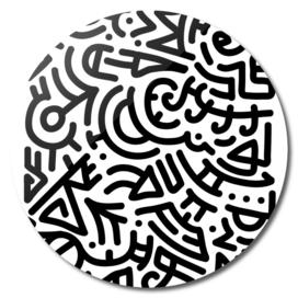 Bold Black Marker Doodle Lines