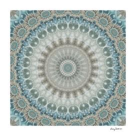 Dreamy Grey and Blue Mandala