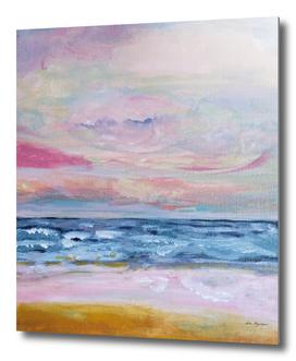 Pink beach, pastel nautical