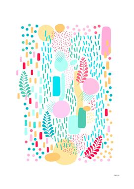 Organic NATURE - colourful pattern 3