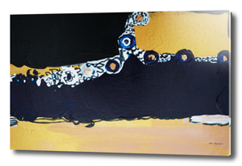 Navy gold abstract