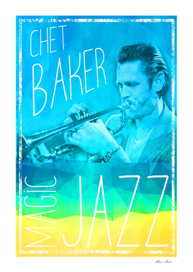 Chet Baker, Magical Jazz, music poster