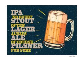 Beer poster, Beer always, vintage poster, metal texture