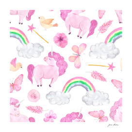 Custom Unicorns and Elements With White Backing