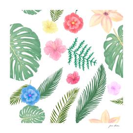 Custom Tropical Hawaii Pattern
