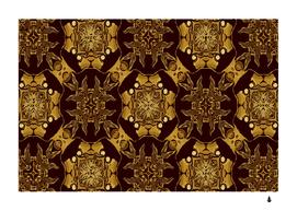gold black book-cover ornate