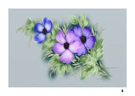 flowers vector illustration figure