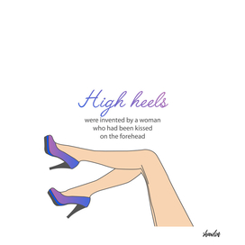 Motivational quote about high heels- womens shoes and legs