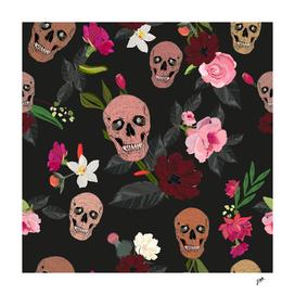 Skull and roses, vanilla, cosmos flower