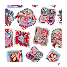 Liquid swirl colorful shapes pattern