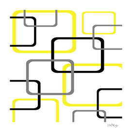 Geometric Rounded Rectangles Collage Yellow