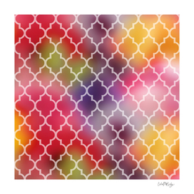 Quatrefoil Print & Colorful Background