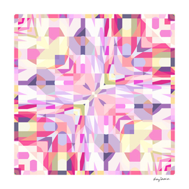 Remix Colorful Square Mandala 01