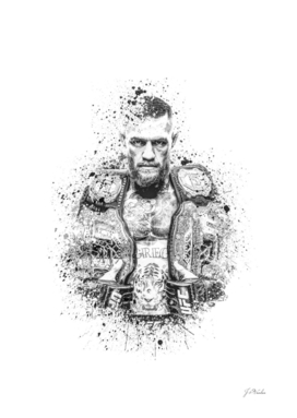 Conor McGregor splatter