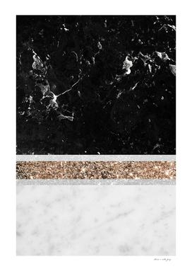 Black and White Marble Gold Glitter Stripe Glam #1 #minimal