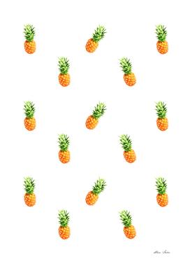 Pineapple, pattern (white version)