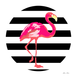Flamingo, summer vibes, summer design, summer poster,