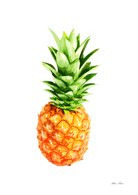 Pineapple, summer poster, tropical fruit, summer style