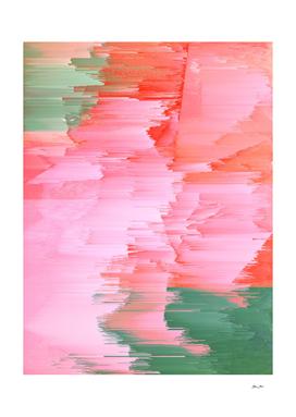Romance Glitch - Pink & Living coral