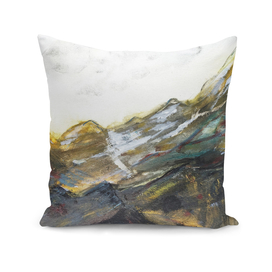 Rolling hills landscape abstract