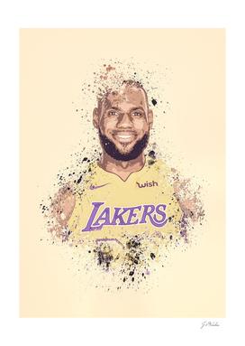 LeBron James splatter