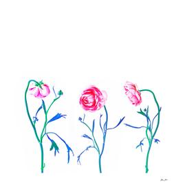 Wild Floral Trio - Study 4.