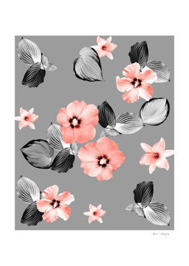 Living Coral Floral Dream #5 #flower #pattern #decor #art