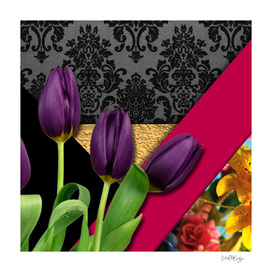 Geometric Shapes Damask & Flowers