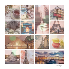 Paris & Eiffel Tower Collage