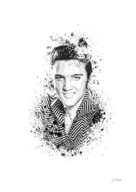 Elvis Presley splatter