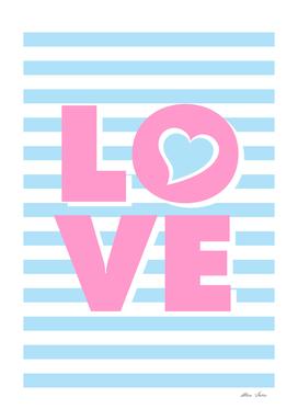 LOVE, Blue Heart, Love poster, Heart poster,