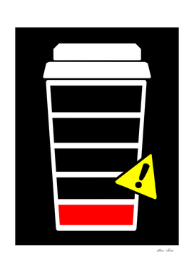 Caffeine Low, Coffee poster, coffee design, black version