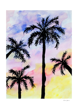 Summer Beach Palm Trees