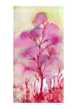 Melting Pink Tree