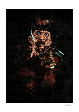 Freddy Krueger Grunge Splatter