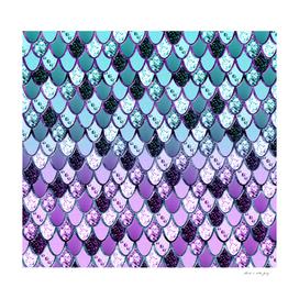 Purple Teal Mermaid Princess Glitter Scales #1 #shiny #decor
