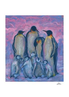 Emperor Penguins Antarctic Winter