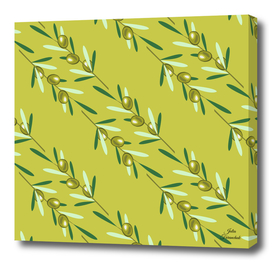 Olive branches pattern