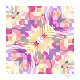 Remix Colorful Square Mandala 02