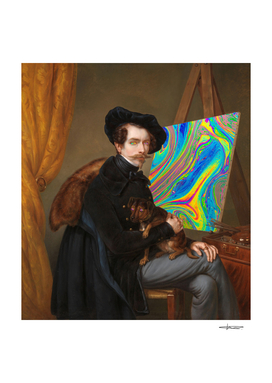 Psychedelic Painter & Dog