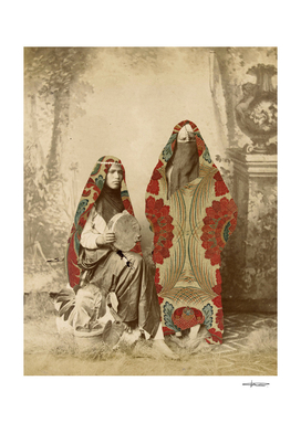 Two Egyptian Women - Collage