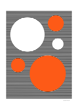 Lines And Circles Orange