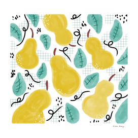Watercolor Pears Remix Collage